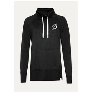 Peloton Legacy Black Cowl Neck Pullover Sweatshirt Size M